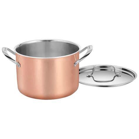 cuisinart  piece tri ply copper cookware set