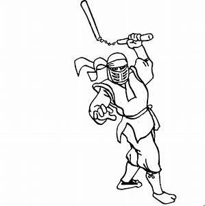Ninja Ausmalbild Malvorlage Comics