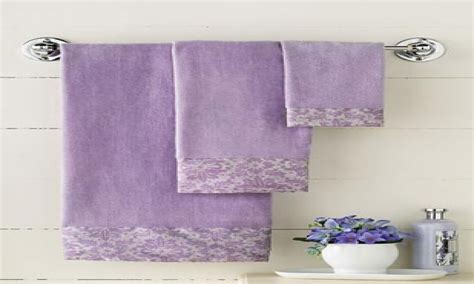 Purple Decorative Towel Sets by Lavender Bathroom Ideas Lavender Bath Towel Sets Purple