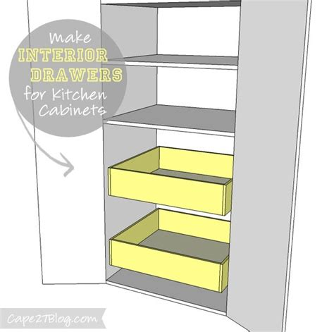 add drawers to kitchen cabinets how to add interior drawers to kitchen cabinets 7398