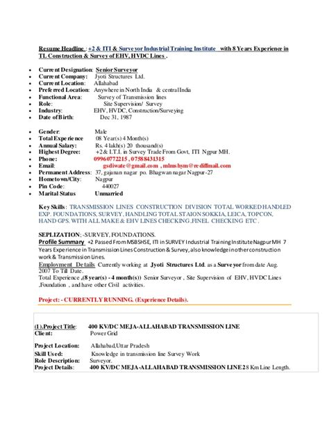 Sle Resume For 2 Years Experience In Net by Resume Mr Ghanshyam Diwate