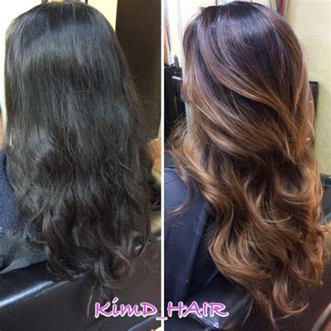 Before And After To Brown by 1000 Ideas About Highlights Black Hair On