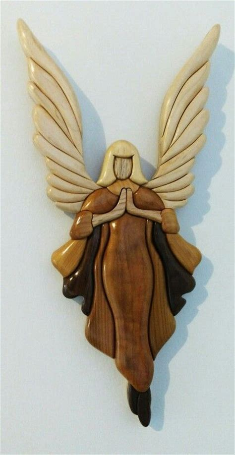 intarsia angel sculpture  woodworking projects