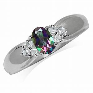 Mystic white topaz 925 sterling silver engagement ring sz for Mystic topaz wedding ring