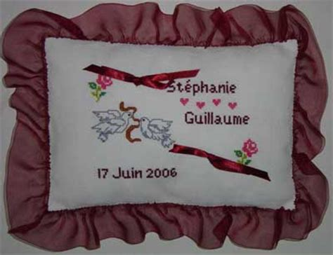coussin pour alliance a broder photo coussin de mariage pour alliance a broder