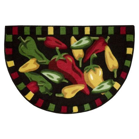 """Whole Home 30""""x20"""" Chili Peppers Kitchen Slice Rug"""