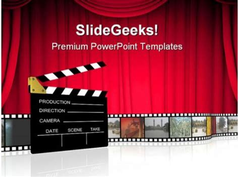 clap board nature powerpoint templates  powerpoint