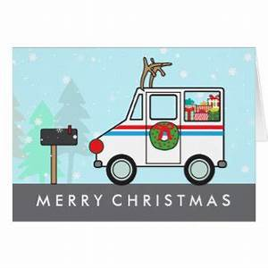 mailman christmas cards invitations zazzlecomau With letter carrier holiday cards