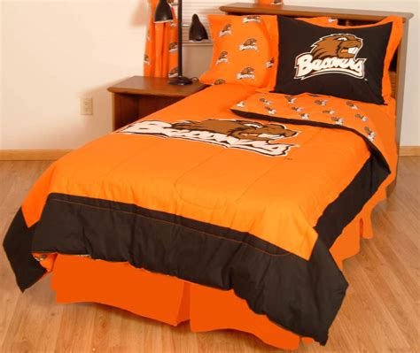 oregon state beavers 100 cotton sateen twin comforter set