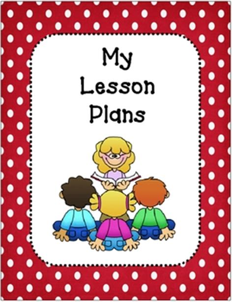 lesson plan book covers  planning template red