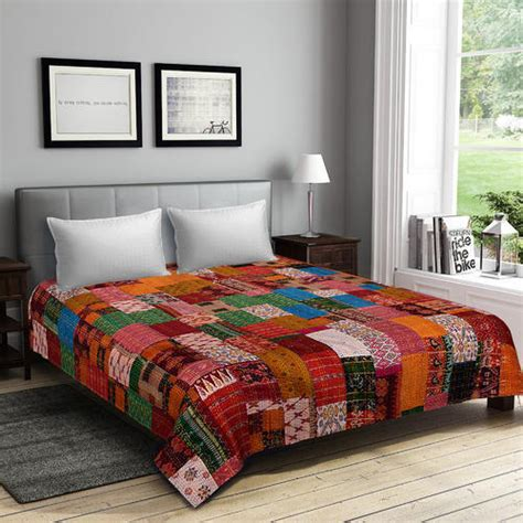 Linen Bedcovers by Linen Embroidered Bed Cover Vaibhav International Id