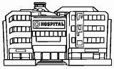 Hospital Coloring Coloringpagesfortoddlers Template Building Disimpan Dari sketch template