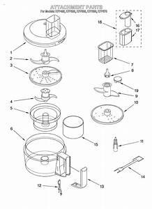 Kitchenaid Model Kfp600ww Food Processor Genuine Parts