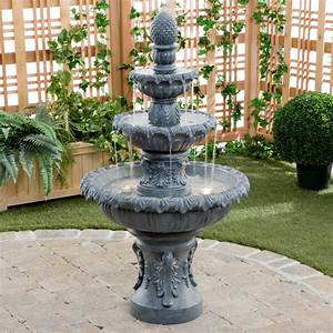 Costa brava outdoor fountain in zink outdoor yard for Outdoor patio fountains