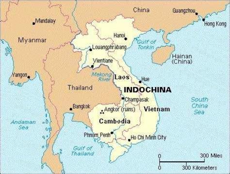 Colonization Of Indochina  Map Of Indochina