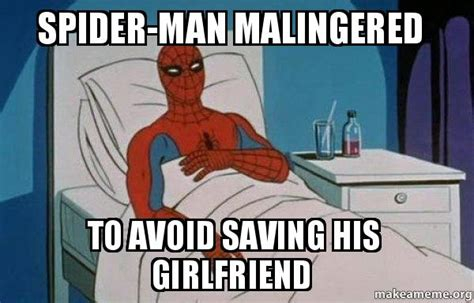 Spiderman Meme Cancer - spider man malingered to avoid saving his girlfriend spiderman cancer make a meme