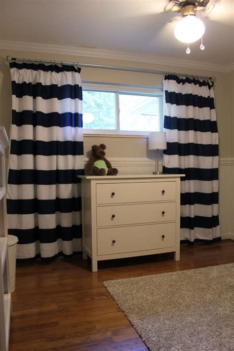 Navy And White Striped Curtains Target by Diy Nursery Curtains Laurenmakes S Weblog