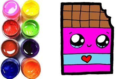 como dibujar  colores chocolate kawaii paso  paso dibujos faciles dibujos  ninos gokid