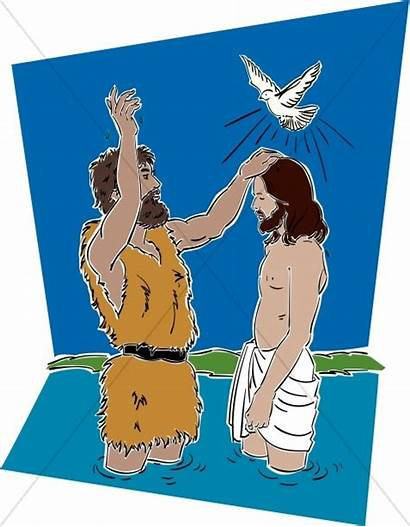 Jesus Clipart Baptist John Baptized Baptism Lord