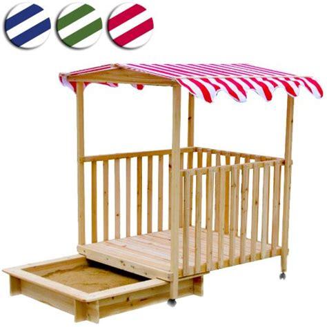 Sandkasten Mit Spielhaus Aus Holz Von Infantastic