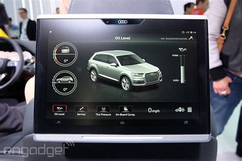 audis   equipped   fully integrated tablet