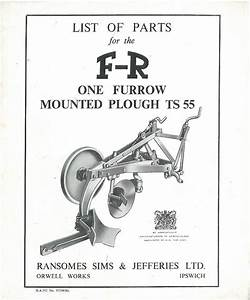 Ransomes Ts55 Fr One Furrow Mounted Plough Parts Manual