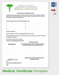 medical certificate template 33 free word pdf With medical certificates templates