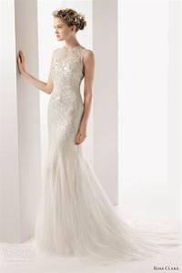soft by rosa clara 2014 wedding dresses wedding inspirasi With high neck sleeveless wedding dress