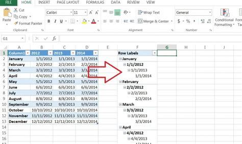 how to make a pivot table how to create a pivot table timeline in excel 2013
