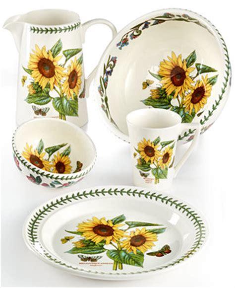 portmeirion botanic garden sunflower collection dinnerware dining entertaining macys
