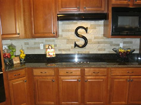 our new stacked backsplash we used airstone sold at lowes lightweight easy to
