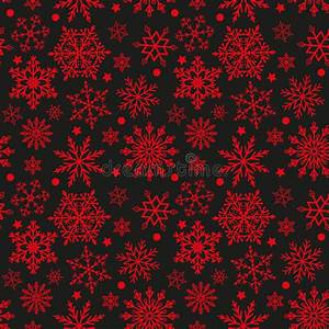 Snowflakes On Black And Red Background Seamless Texture ...