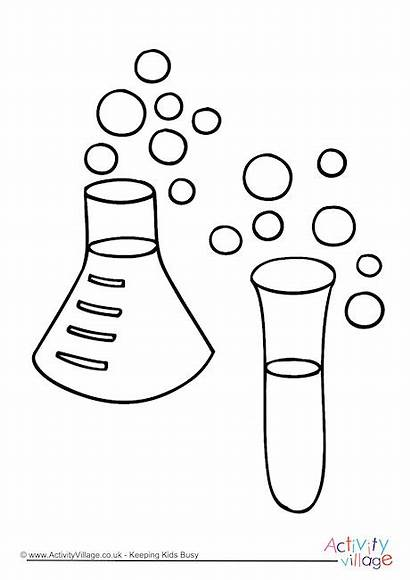Chemistry Colouring Pages Experiment Become Member Activity