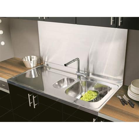 plan de travail inox cuisine professionnel crédence inox h 58 5 cm x l 120 cm leroy merlin