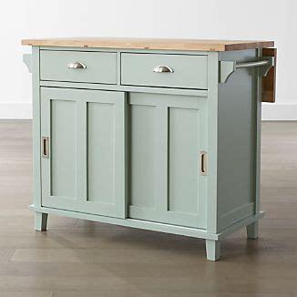 Rolling Kitchen Islands   Crate and Barrel