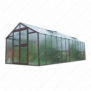 Serre Acier Verre : serre de jardin 249x604cm 15 04m verre cath drale 4mm ~ Premium-room.com Idées de Décoration