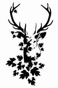 5 8  8 3 Stag Head Stencil 1