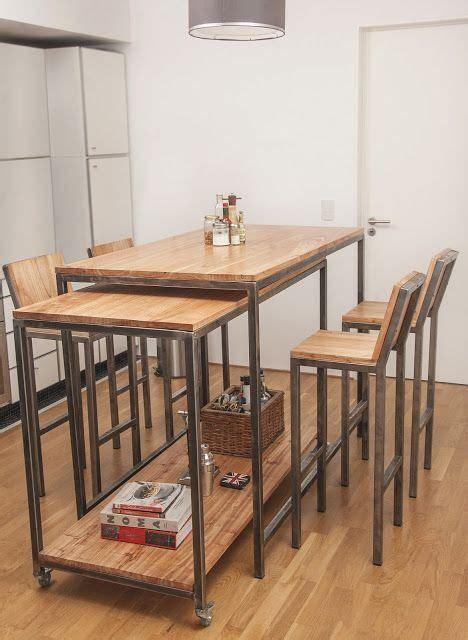 mesa comedor cocina restaurante metal madera bancos depa  en mercado libre