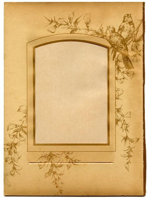 vintage ephemera printable  album page  birds