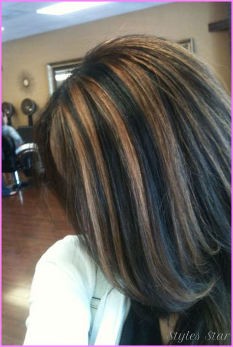 Hair Highlights Pictures by Black Hair With Caramel Highlights Pictures Stylesstar