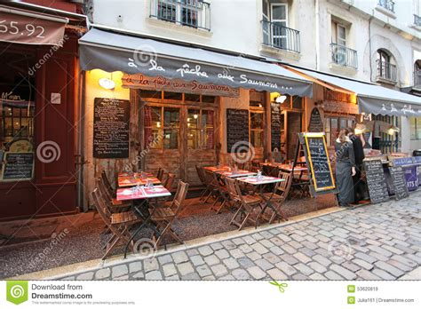 in cuisine lyon restaurant bouchon in lyon editorial stock image image 53620819