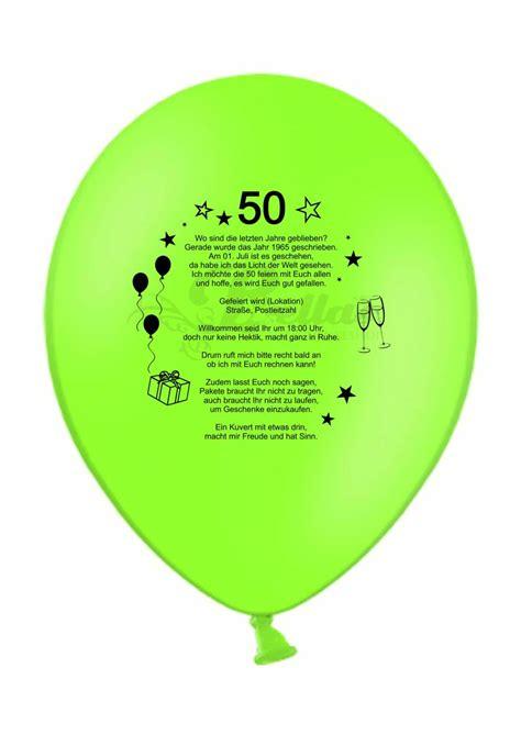 luftballons bedruckt als einladungsballons