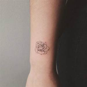 Tatouage Rose Minimaliste : 65 cute and inspirational small tattoos their meanings you will definitely love ~ Farleysfitness.com Idées de Décoration