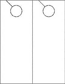 pinterest With 4 25 x 11 door hanger template