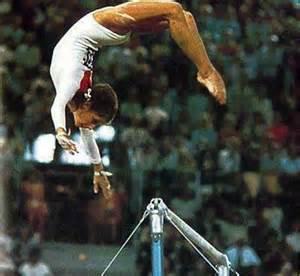 Olga Korbut Doing Gymnastics