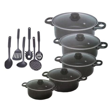 generic  piece  stick cookware set black buy
