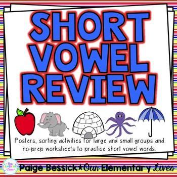short vowel review sorts worksheets activities