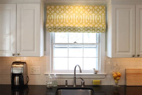 Window Treatments Shades by Green Before And After Kitchen Flat Shade