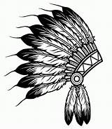 Coloring Indian Headdress Native Popular Adults sketch template