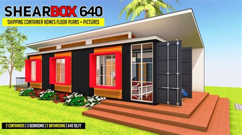 shearbox  shipping container homes plans